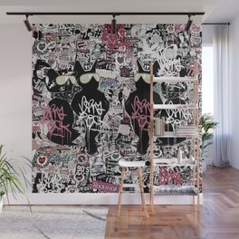 Lost in Graffitis and Stickers Wall Mural