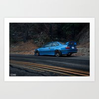 bmw Art Prints featuring BMW M3 by 1013MM