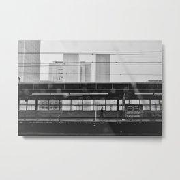 Japanese Train Station. Black and White Fine Art Print. Urban Travel Photography. Cityscape Wall Art.  Metal Print
