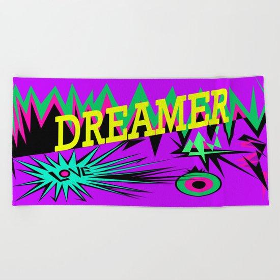 Keep Calm and Dream   Sweet Dreams my Love Beach Towel
