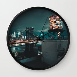 The Water Tower New York City (Color) Wall Clock