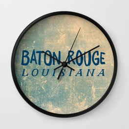 BATON ROUGE LOUSIANA Wall Clock