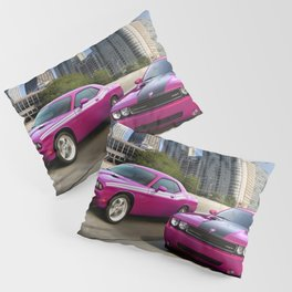 Limited Edition Fuchsia Panther Pink Challenger RT Classic Variation Models Pillow Sham