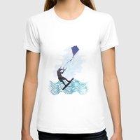 les mis T-shirts featuring [mis]interpreting kiteboarding by crayzeestuff