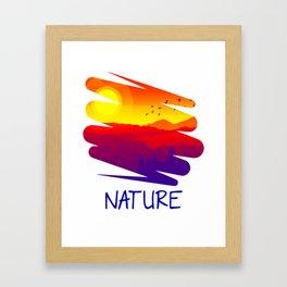 The Nature Retro Style bry Framed Art Print