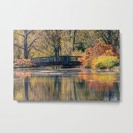 Bridge in the Fall Metal Print