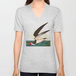Black Skimmer or Shearwater Bird Unisex V-Neck