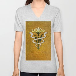 Gridania Flag - The Order of the twin adder ( FFXIV) Unisex V-Neck