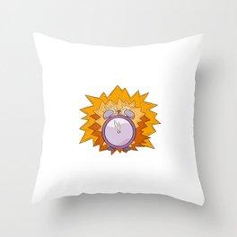 violet alarm clock Throw Pillow