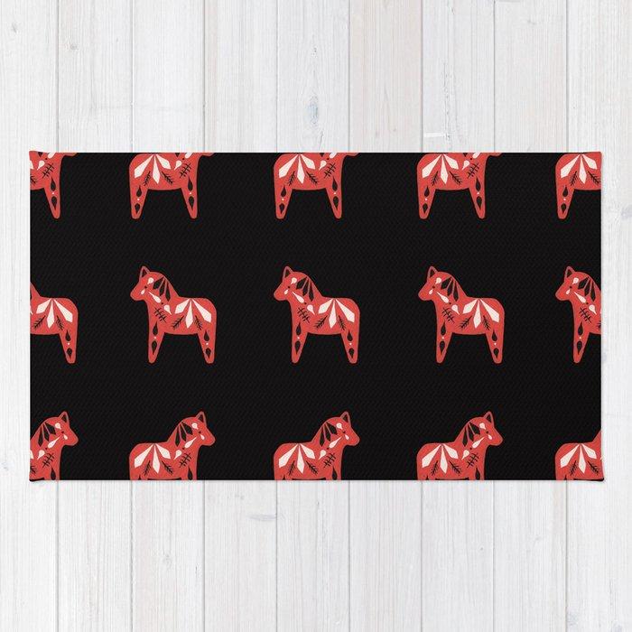 Dala Horse Pattern Rug