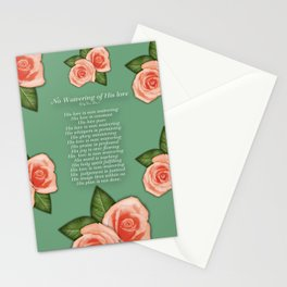 No Waivering of His love By Feon Davis Stationery Cards