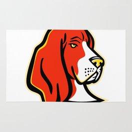 Basset Hound Dog Mascot Rug