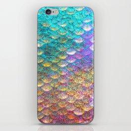 Aqua and Gold Mermaid Scales iPhone Skin