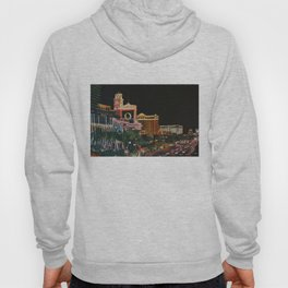 Las Vegas Strip Oil On Canvas Hoody