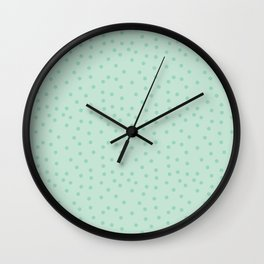 Topos locos mint Wall Clock