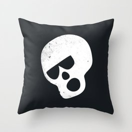 Boo Skull Throw Pillow