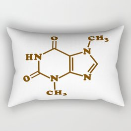 Chocolate Theobromine Molecule Chemical Formula Rectangular Pillow