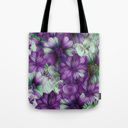Violets and Greens Tote Bag