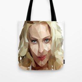 Scarlett Johansson Low Poly Art Tote Bag