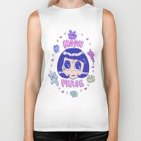 magical girl Biker Tanks featuring magical girl by Caitlin Roberts