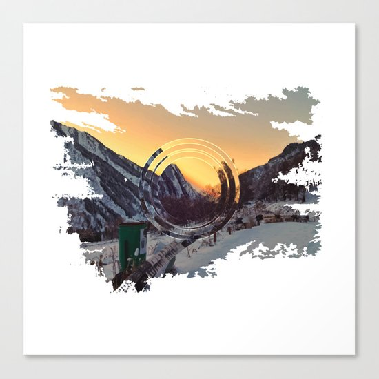 Mountains sunset Canvas Print