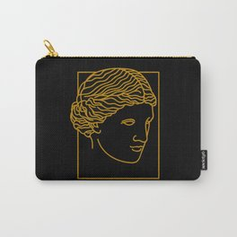 Aphrodite Face in Black Carry-All Pouch