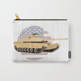 M1A1 / M1A2 Abrams Tank with American Flag Carry-All Pouch