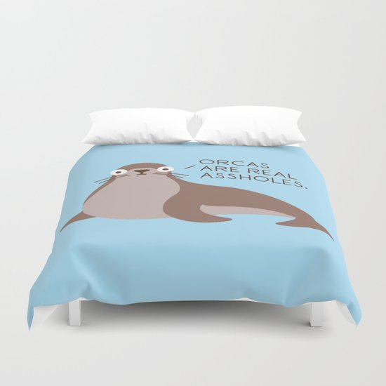 Seal of Reproval Duvet Cover