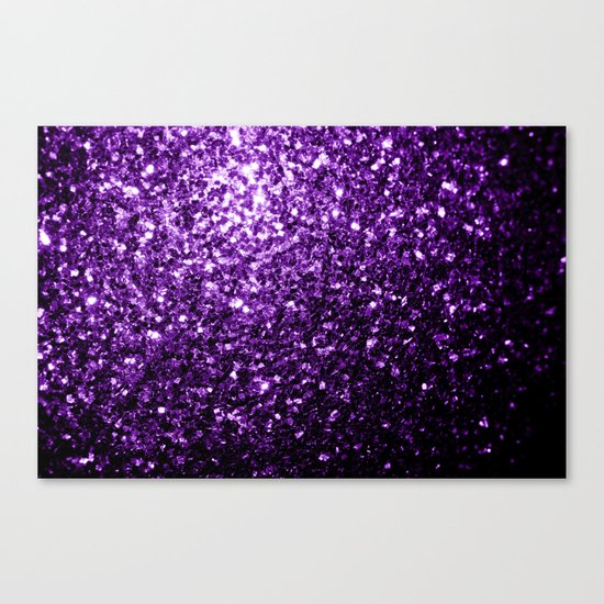 Beautiful Dark Purple glitter sparkles Canvas Print