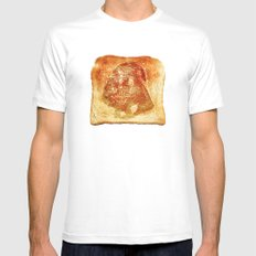 Darth Vader toast LARGE Mens Fitted Tee White