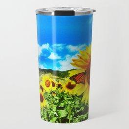SunFlower Feild Travel Mug
