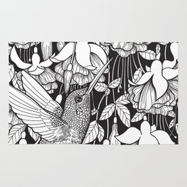Hummingbird and fuchsia Rug