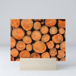 stack of wood Mini Art Print