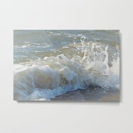 Sandy Saltwash at Sun Up Metal Print