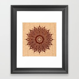 ozorahmi wood mandala Framed Art Print