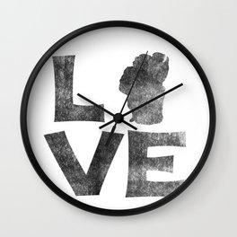 LOVE Tahoe inked Wall Clock