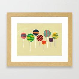 Sweet lollipop Framed Art Print