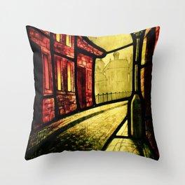 Lamplight Street Throw Pillow