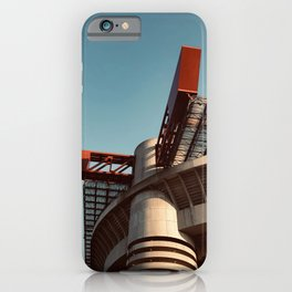 Architecture photography, San Siro Stadium, italian Serie A, sport building, stadio Giuseppe Meazza, sports iPhone Case