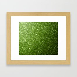 Beautiful light green greenery glitter sparkles Framed Art Print