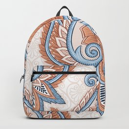 Ethnic Floral Pattern Backpack