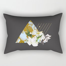 Tropical Flowers & Geometry Rectangular Pillow