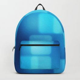 Multi-Blue Tiles Abstract Pattern Backpack