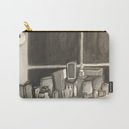 As Time Passes in Black and White Carry-All Pouch