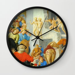 "Fra Angelico and Fra Filippo Lippi ""Adoration of the Magi"" detail Wall Clock"