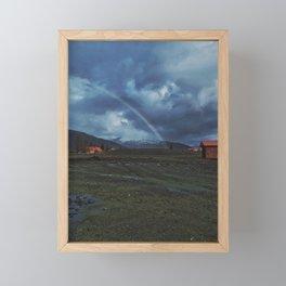 Alaskan Spring Rainbow Framed Mini Art Print