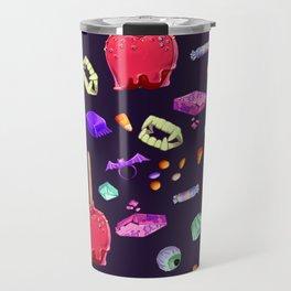 Halloween Candy Pattern Travel Mug