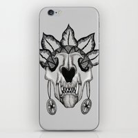 animal skull iPhone & iPod Skins featuring Animal skull by SilviaGancheva