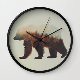 Norwegian Woods: The Brown Bear Wall Clock