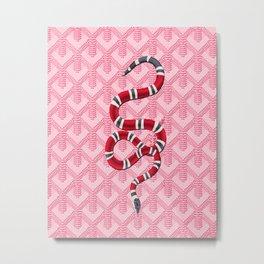 Goyard Pink Snake Metal Print